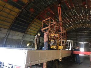 Отгрузка мачтового подъёмника на объект с нашего склада
